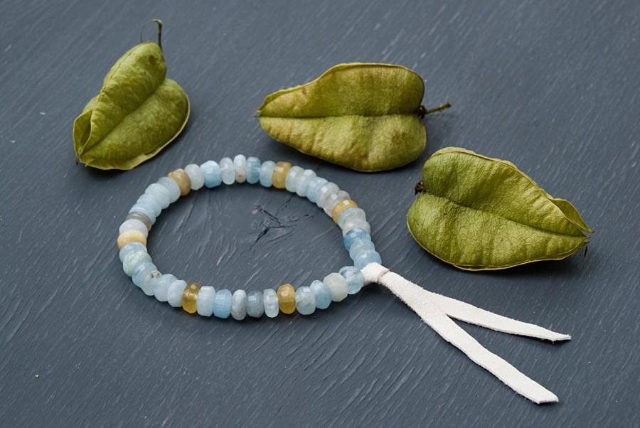 Pastel Aquamarine Bracelet Genuine Blue Gemstones Genuine ...