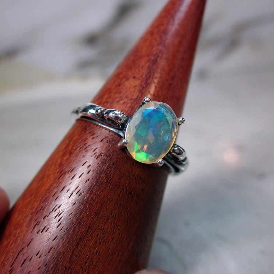 diamond jewelry watch opal ring rings accents white gemstone gold ethiopian natural engagement