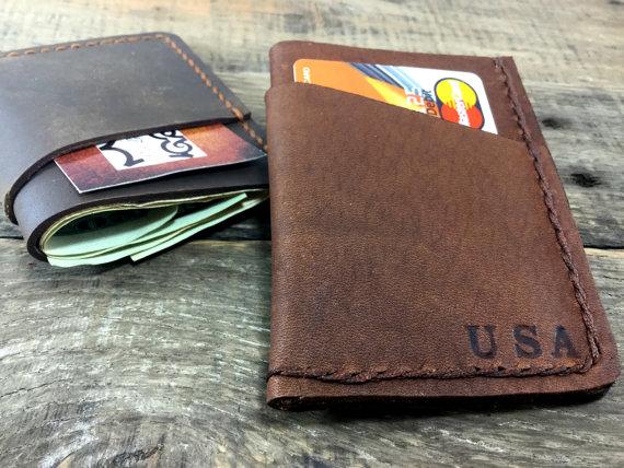 Nozze - Front Pocket Wallet, Minimalist Leather Wallet, Groomsmen Gifts, Personalized Wallet, Handmade Wallet, Credit Card Wallet, NiceLeather-NL103