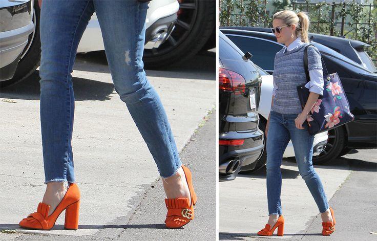 77c28c1c434 Reese Witherspoon Prefers Gucci Suede Pumps  2586553 - Weddbook
