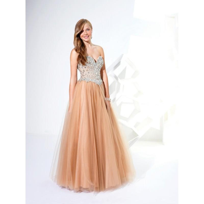 Wedding - Perfect Chiffon Beaded A-line Bodice Strapless Sweetheart Ball Gown Prom/evening/bridesmaid Dresses Terani P1631 - Cheap Discount Evening Gowns