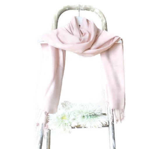 f08a8a43e5 Powder Pink Shawl, Blush Pink Wrap, Wedding Shawl, Translucent Cotton  Scarf, Bridal Shawl, Bridesmaids Gift, Soft Lightweight Fine Pashmina