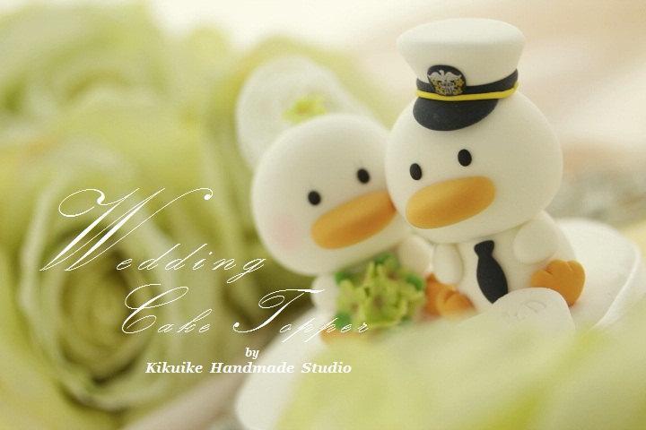 Свадьба - ducks  Wedding Cake Topper -Handmade love  ducks cake topper---k732