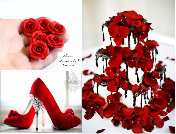 b93002ad4a7 Red Wedding Cakes & Roses Red Roses And Black #2586770 - Weddbook