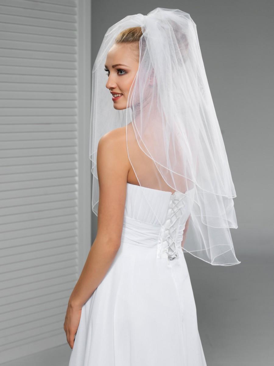 Свадьба - 3 tier Wedding Veil with the most Delicate Pencil Edge