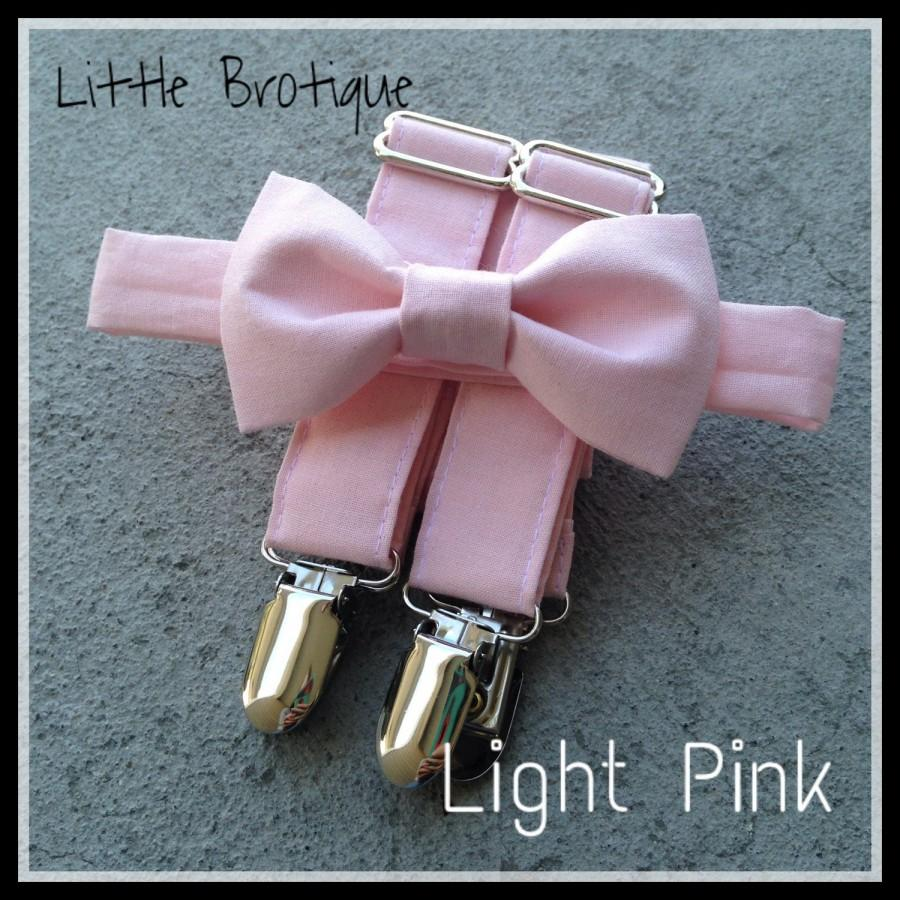 Mariage - Light Pink Bow Tie and Suspender Set for men, boys, toddlers, and babies. Sent 3-5 days after you order