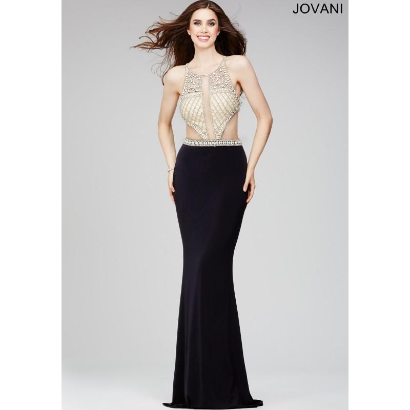 Wedding - Jovani Black Sleeveless Prom Dress 31412 -  Designer Wedding Dresses