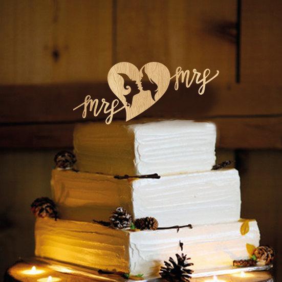 Свадьба - Lesbian Wedding Cake Topper - same sex wedding, lesbian wedding