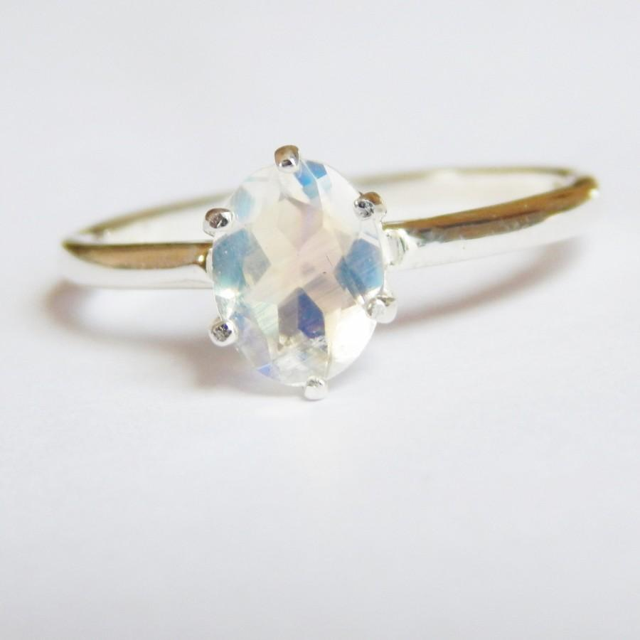 Свадьба - La Luna Engagment Ring - Sri Lankan Moonstone in 0.925 Sterling Silver or 14k Gold