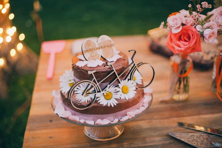 زفاف - Tandem Bike Cake Topper