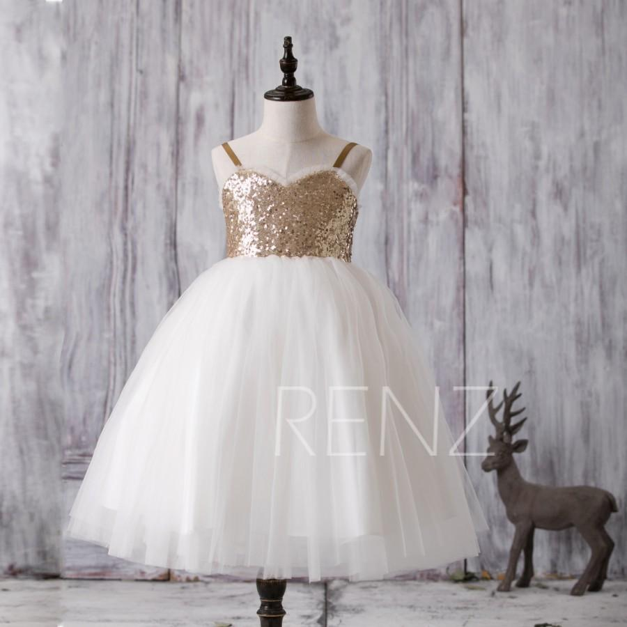 2016 off white soft tulle junior bridesmaid dress golden sequin 2016 off white soft tulle junior bridesmaid dress golden sequin flower girl dress spaghetti strap sweetheart puffy dress lk118 ombrellifo Choice Image