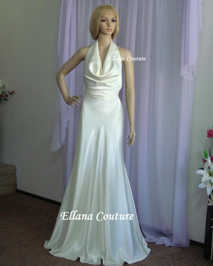 Wedding - Diana - Elegant and Sexy Wedding Dress. Vintage Inspired Design.