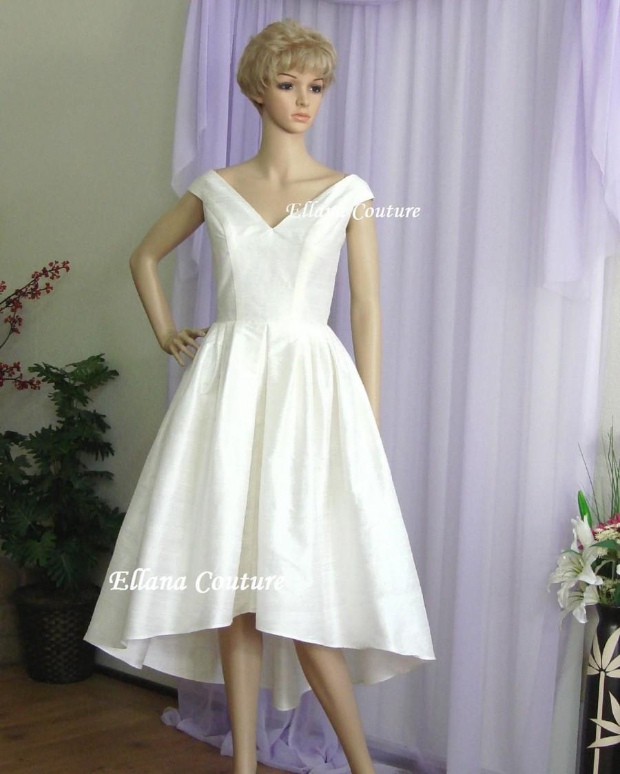 Lily Vintage Inspired Wedding Dress High Low Hem Gorgeous