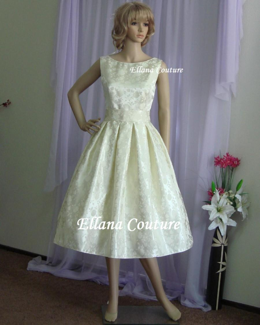 Plus Size. Lucille - Vintage Inspired Tea Length Wedding ...