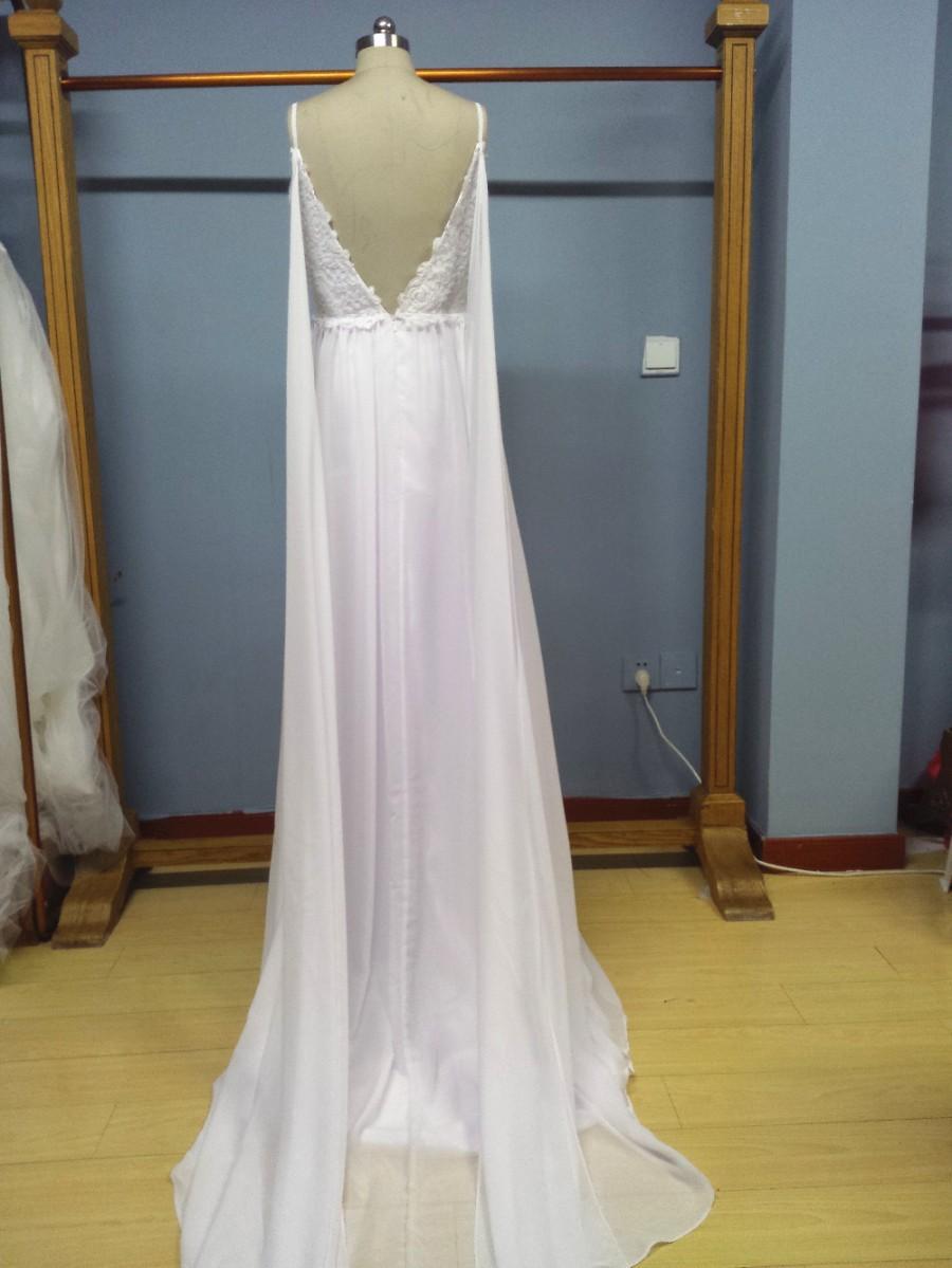 00e6d9ff2b Aliexpress.com : Buy Spaghetti Straps Summer Beach Wedding Dress Chiffon Bridal  Dress from Reliable dress sofa suppliers on Gama Wedding Dress