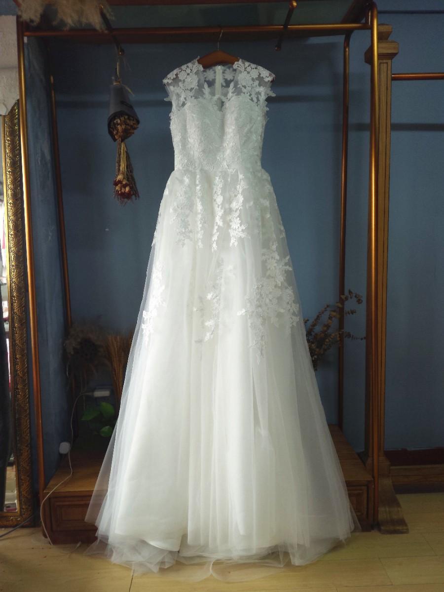 Aliexpress.com : Buy A Line/Princess Floor Length Ivory Tulle ...