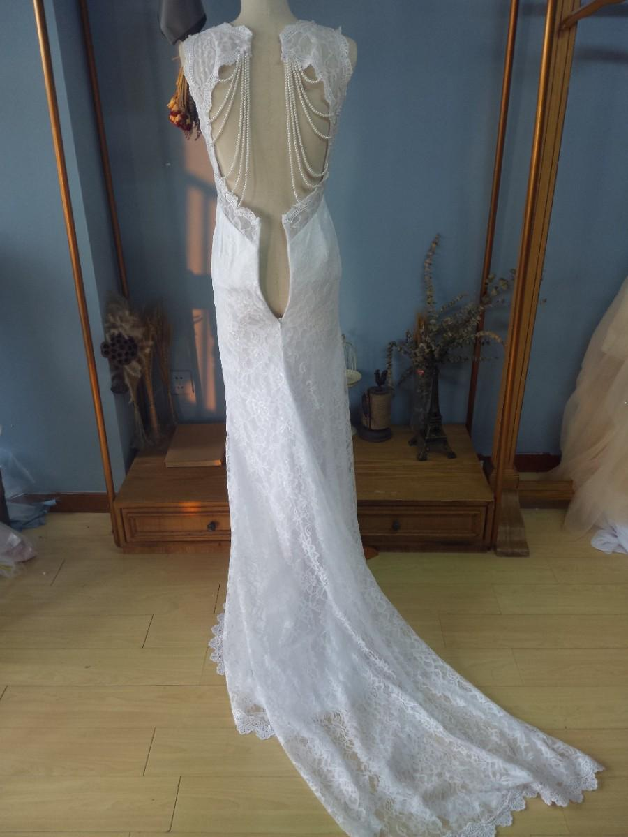 Aliexpress.com : Buy Queen Anna Neck Court Train Lace Wedding ...