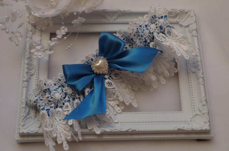 Wedding - Wedding Garter Royal Blue Lingerie Garters Bridal Garters Venice Wedding Lace ivory garters lace garters navy garters blue wedding