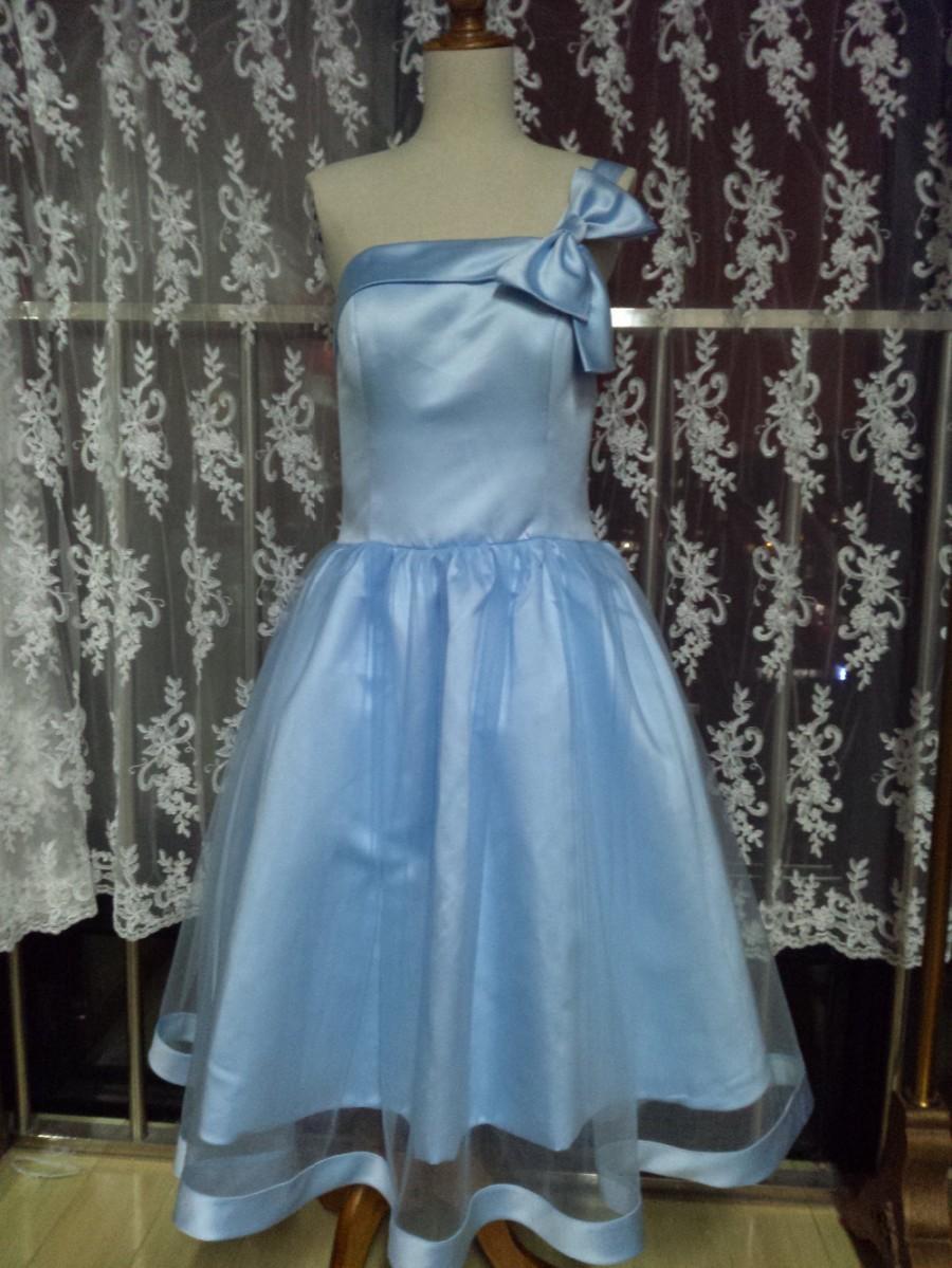 Aliexpress.com : Buy One Shoulder Knee Length Short Graduation Dress ...