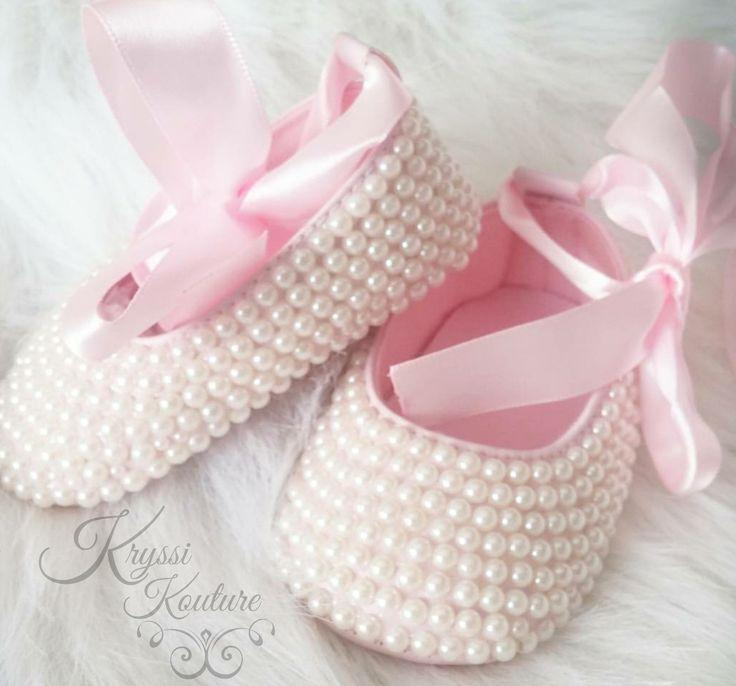 8135629afda57 Pearl Baby Ballet Shoes - Pearl Baby Shoes - Shoes, Pearl Baby Shoes,Baby  Girl Shoes, Wedding, Christening,Baptism Gift,baby Shower Gift,baby Crib  Shoe