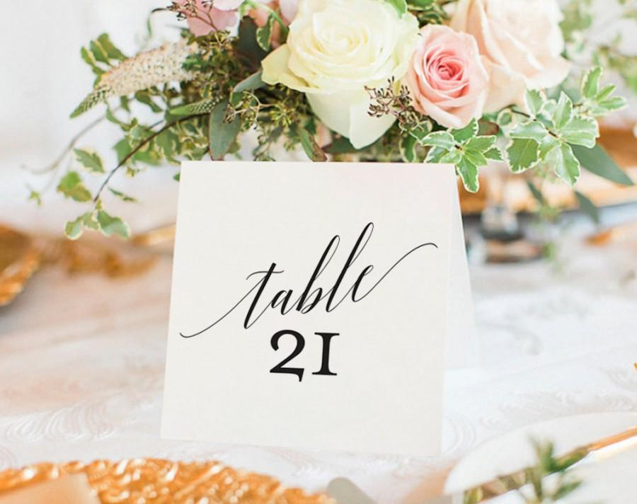 زفاف - Table Numbers Printable, Wedding Table Numbers, Table Number Template, Wedding Printable, Tented, Folded, PDF Instant Download