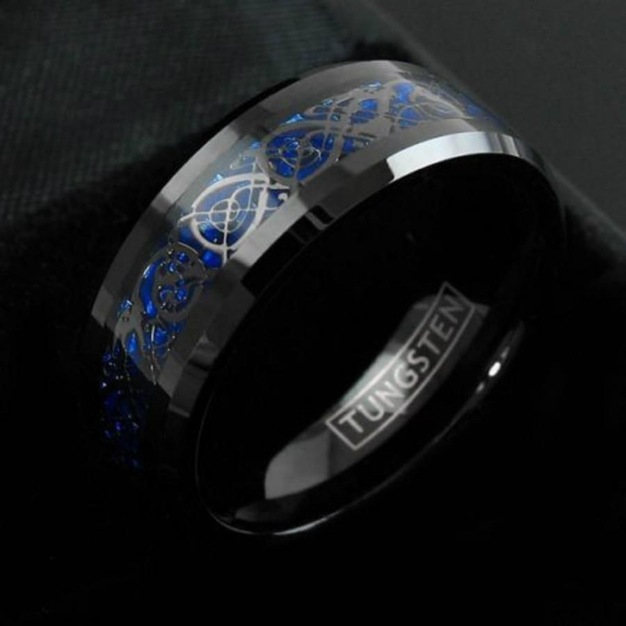 Celtic Tungsten Ring, Black Tungsten Ring, Celtic Band, Cool Mens ...