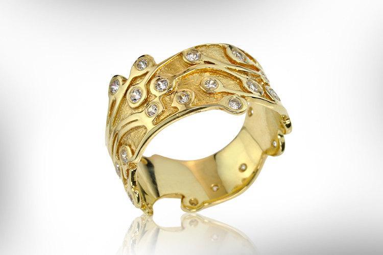 Vintage Gold Ring Vintage Wedding Bnad Vintage Engagement Ring