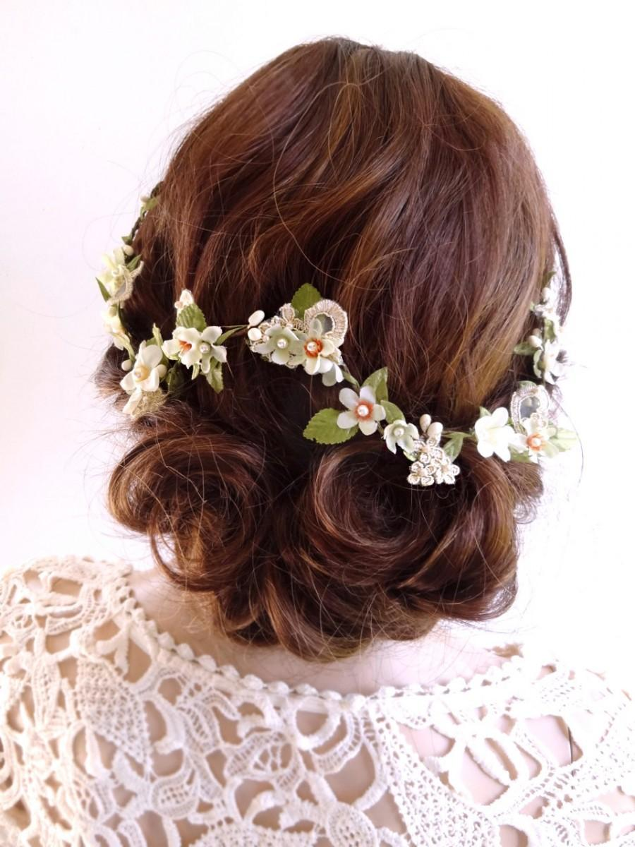 Bridal Hair Vine Floral Hair Piece Hair Vine Lace Hair Piece