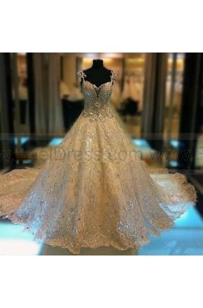 Nozze - Luxury Princess Bridal Gowns Thousands of Shiny Swarovski Crystals A Line Royal Train Gorgeous Amazing Wedding Dresses 2014