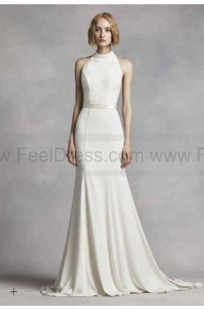 9f662d3e4a4 White By Vera Wang High Neck Halter Wedding Dress VW351263  2587667 ...