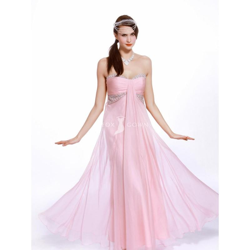 Rosa Knöchellangen Chiffon Schulterfreies Sweetheart Prom Kleid ...