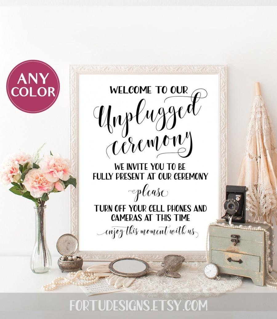 unplugged wedding sign ceremony decor unplugged sign wedding signage diy unplugged ceremony sign outdoor ceremony decorations no cellphone