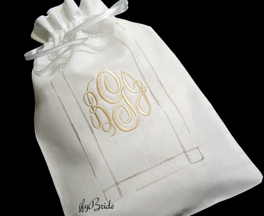 Irish Linen Bridal Money Bag Wedding Card Purse Dollar Dance Brides Style 9843