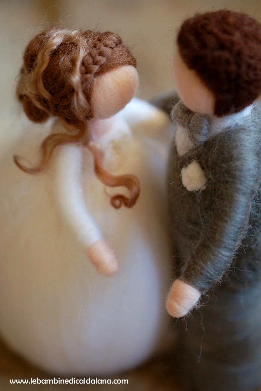 Mariage - Bride and groom fairy tale, wool, Waldorf inspired