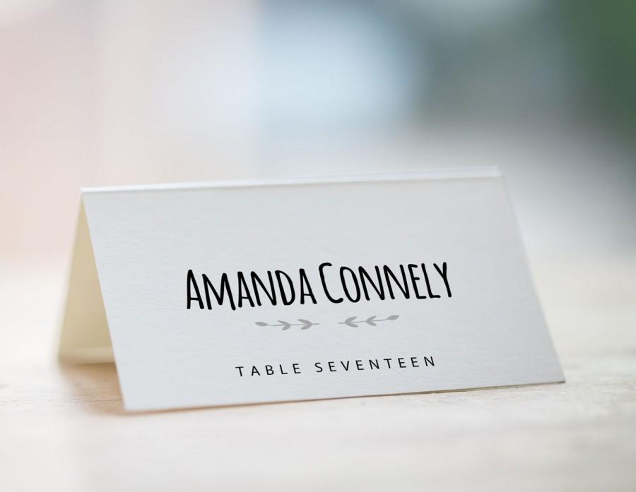 Printable place card template wedding place card template for Design table name cards
