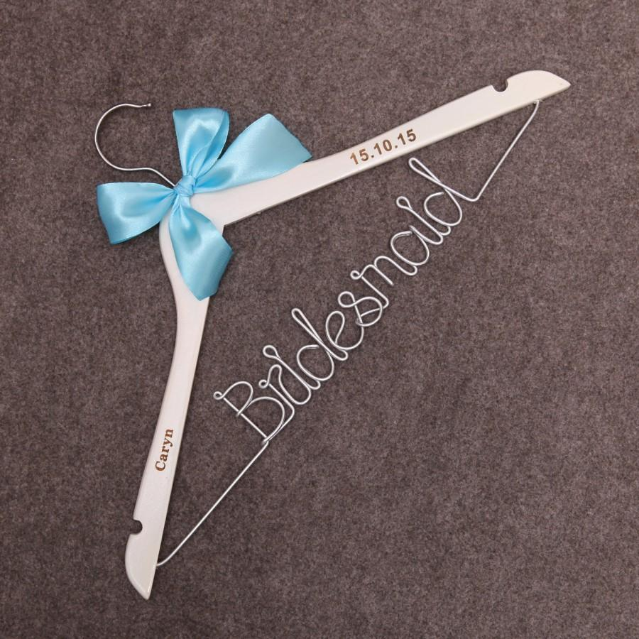 Bridesmaid Hanger Wedding Bride Wire Mrs Coat Hangers Dress Custom Gifts