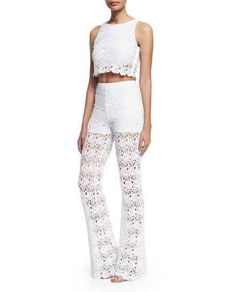 Wedding - Rosi Floral-Lace Crop Top
