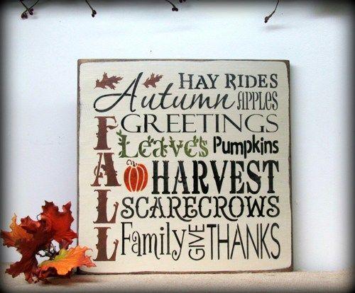 Hochzeit - Fall Harvest Wooden Sign