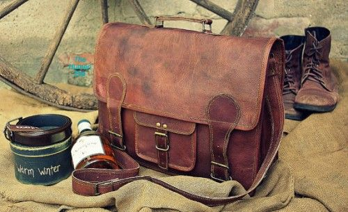 Hochzeit - Leather Briefcase