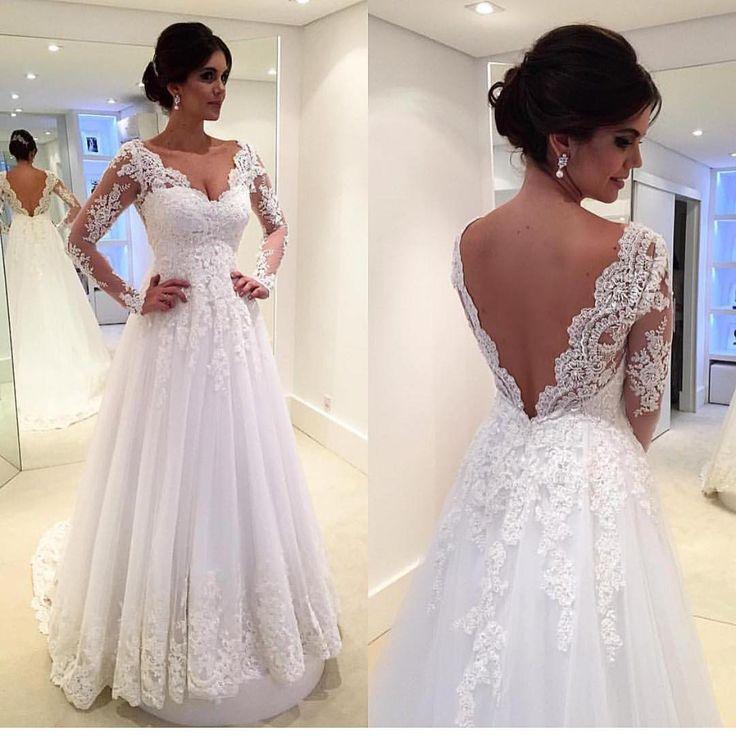 Wedding - V - Back Gown