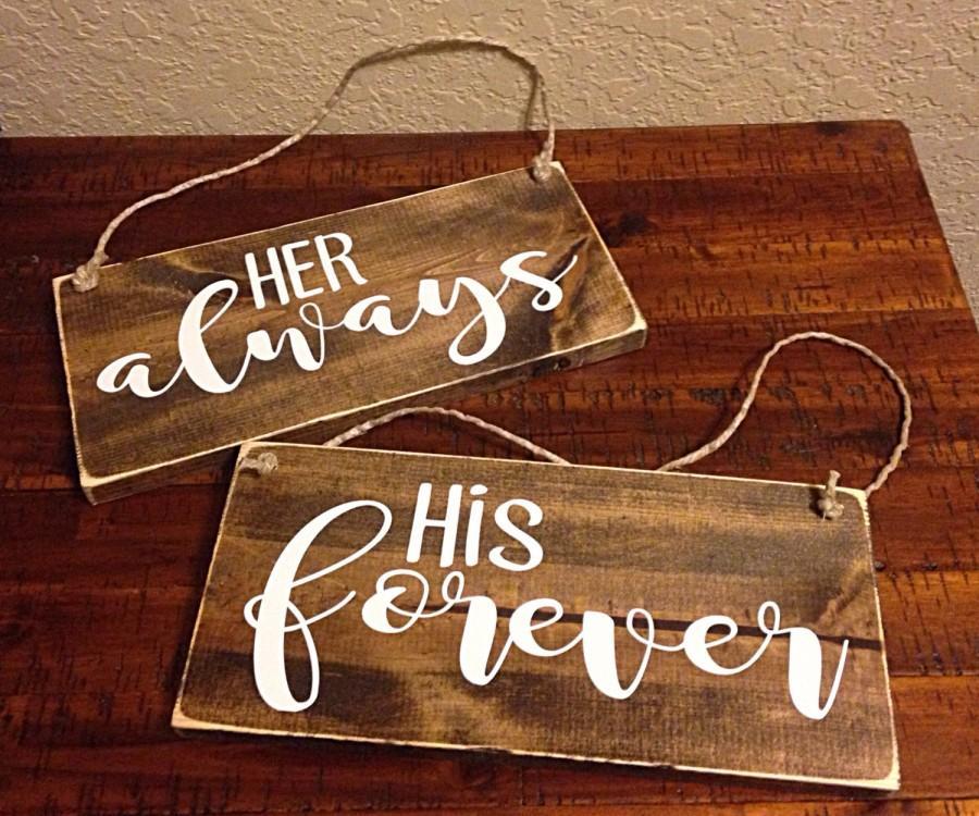 Hochzeit - Bride & Groom signs