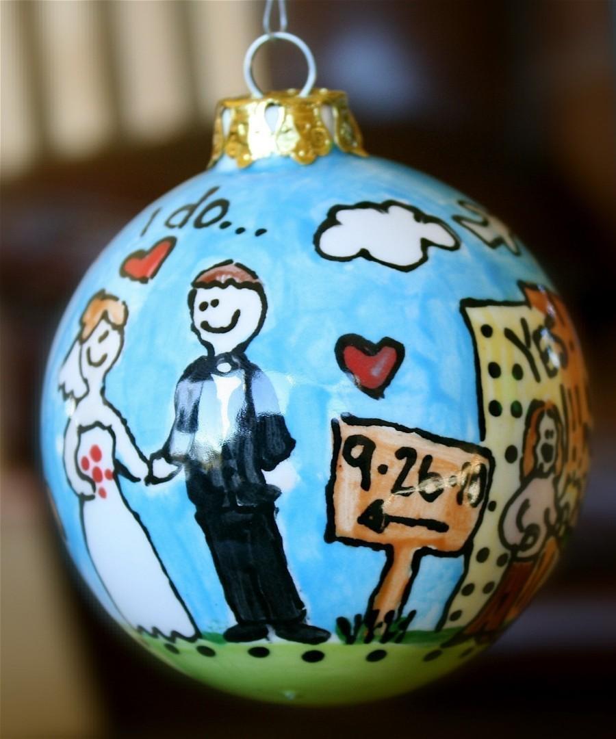 Hochzeit - Personalized wedding ornament