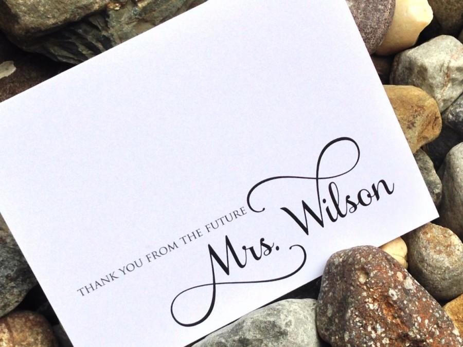 wedding bridal shower thank you cards thank you from the future mrs thank you notes wedding shower shower gift set of 12 cards