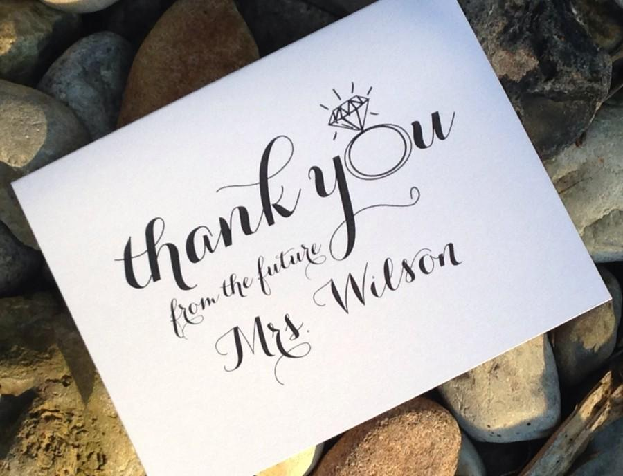 Wedding Bridal Shower Thank You Cards Thank You From The Future Mrs