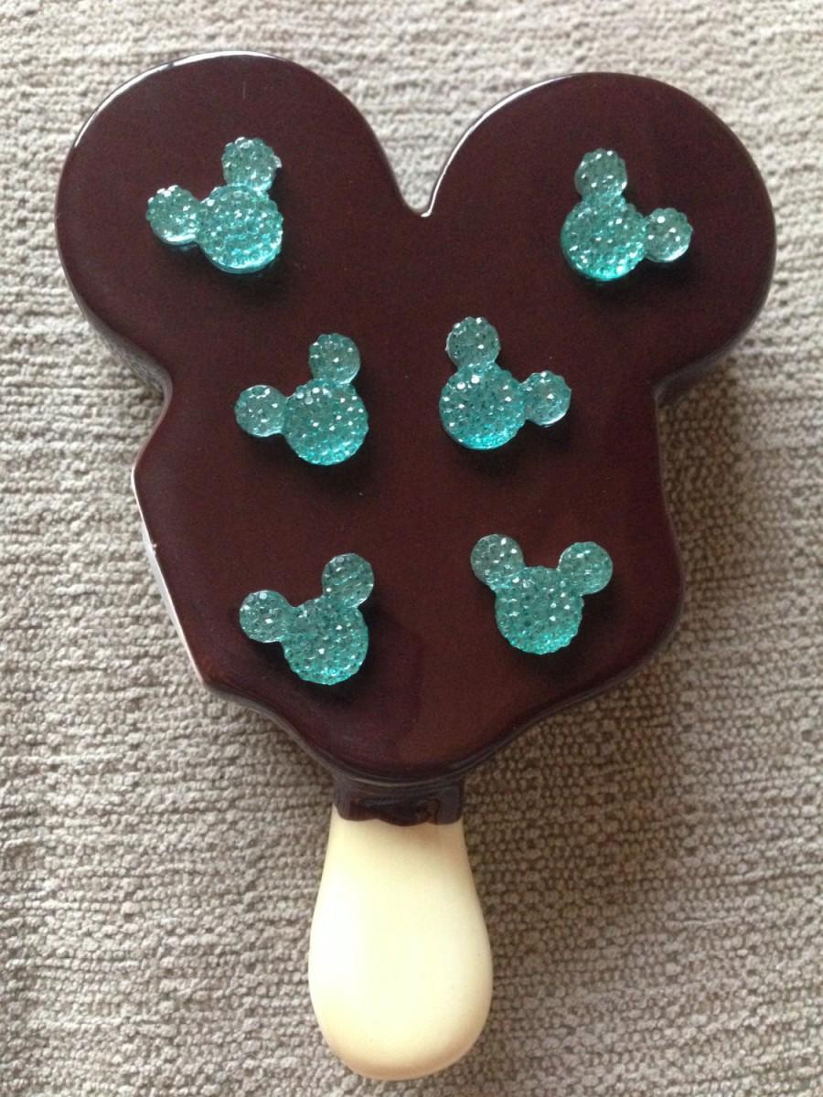 Свадьба - Mickey Mouse Disney Crystal Rhinestone Hidden Mickey for Wedding Bridal Bouquet in Ariel Seafoam