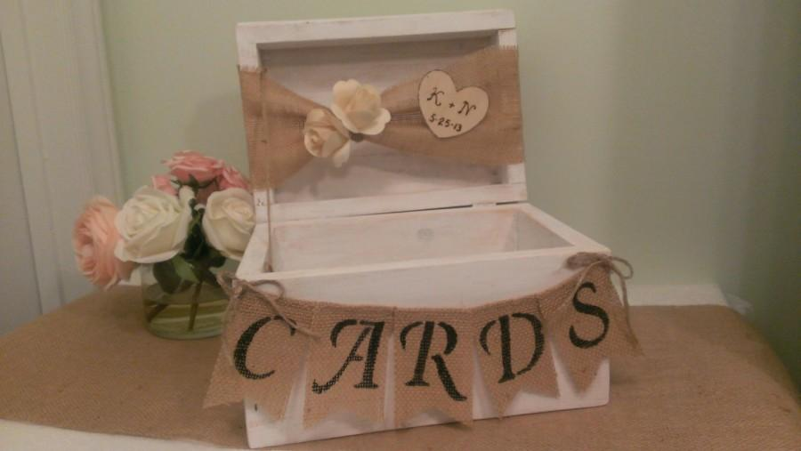 Rustic Wedding Card Box Personalized Shabby Chic Wedding Reception