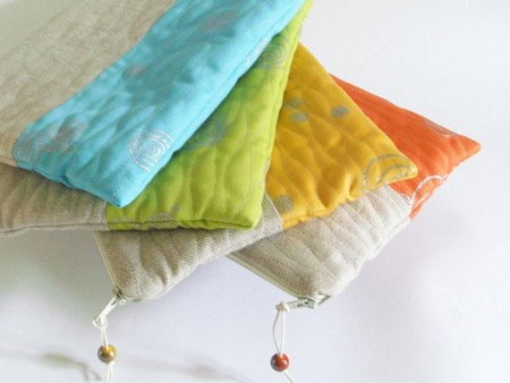 زفاف - Set of 4 Bright Color Clutches, Wedding Bridesmaid Bags, Bachelorette Party Gifts
