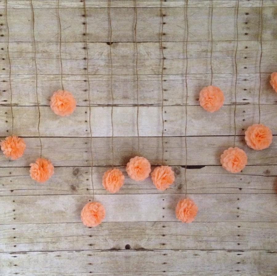 Diy Peach Tissue Paper Flower Wedding Garland Kit Back Drop