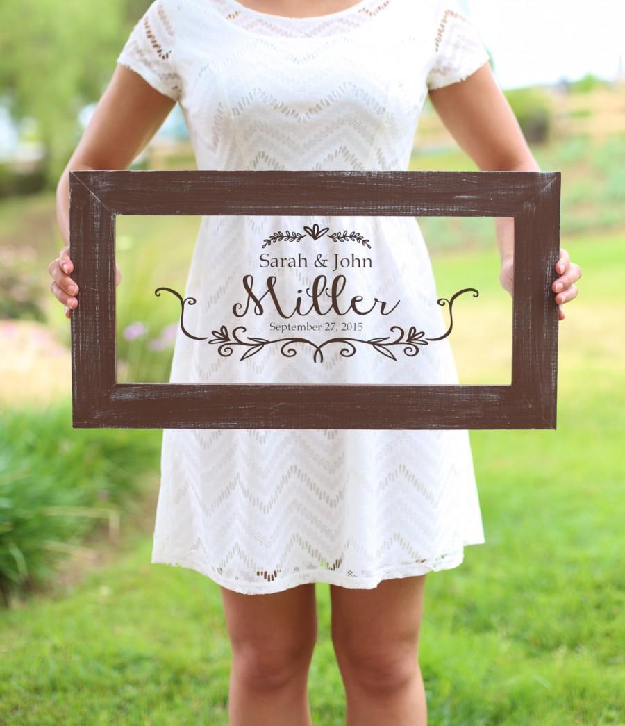 Mariage - Personalized Calligraphy Wedding Sign Bridal Shower Gift Wedding Present Custom Rustic Decor (item number NVMHDA1338)