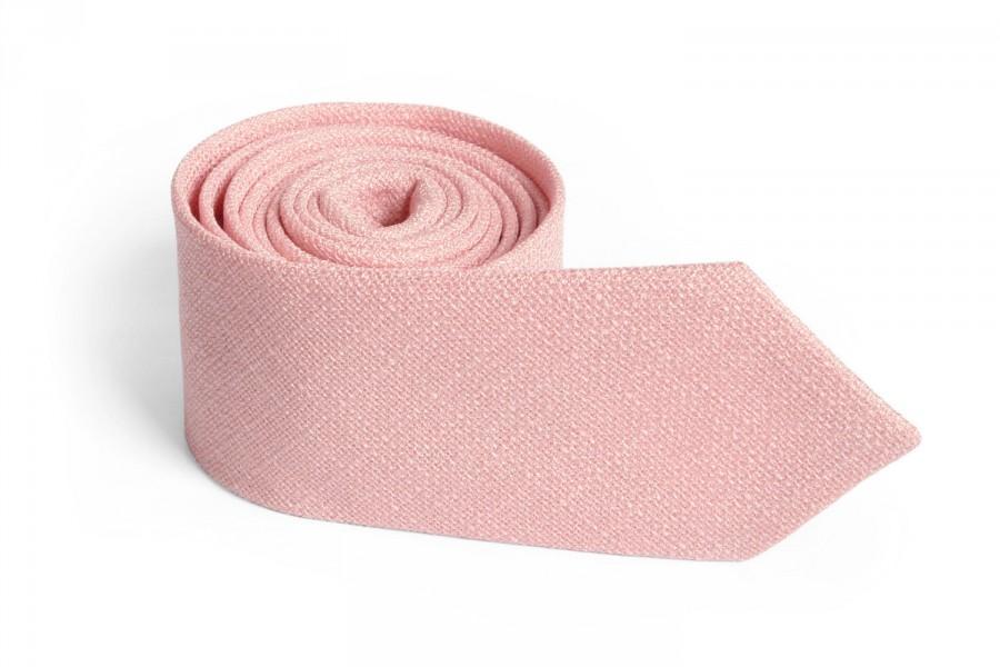 زفاف - Dusty Salmon Pink Tie / Men's skinny Light Salmon Pink  tie / Wedding Ties / Necktie for Men FREE GIFT